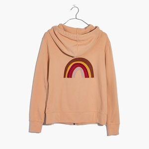 nwt madewell mile(s) embroidered rainbow hoodie